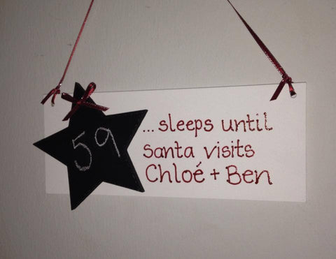 Santa Countdown Plaque
