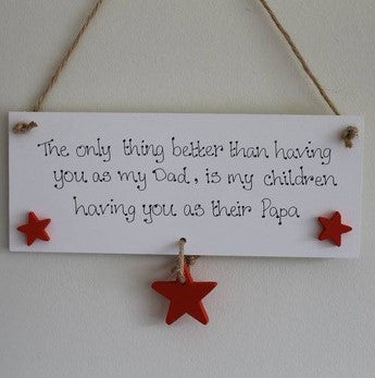 Dad/Grandad/Papa Hanging Plaque 2