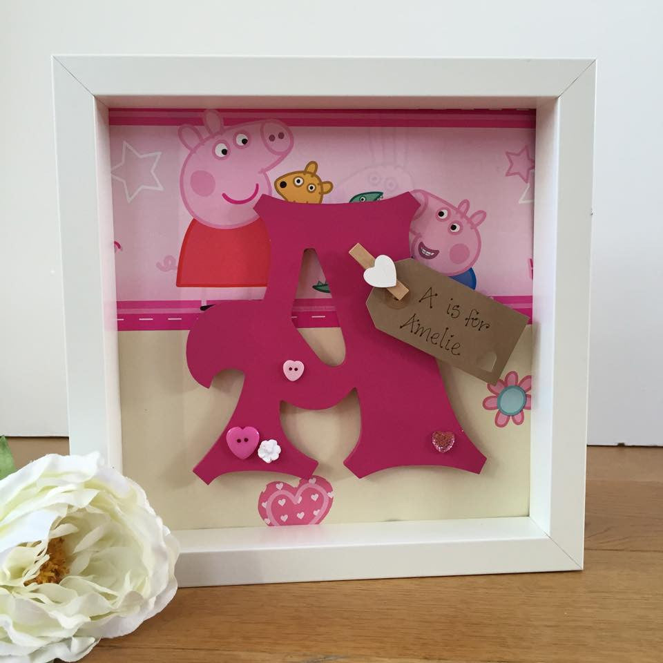 Personalised themed character initital frame – Secret Designs