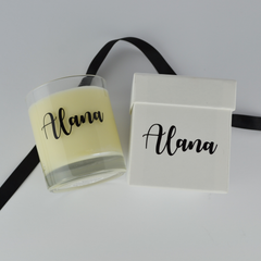 Bridesmaids candles personalised | name candle | wedding party gifts | scented candle for bridesmaid box | natural soy eco wax