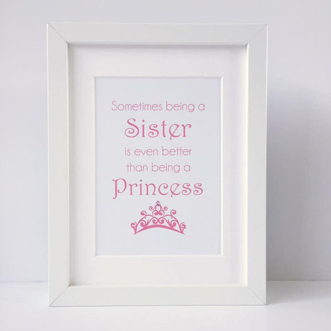 Sometimes being a Sister... framed tiara print