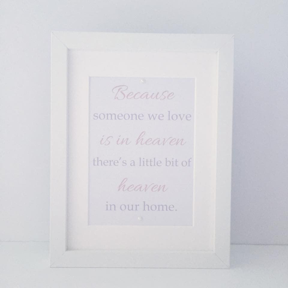 If someone we love is in Heaven.... framed print