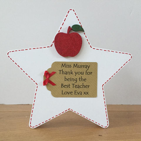 Freestanding Teacher Thank You Star