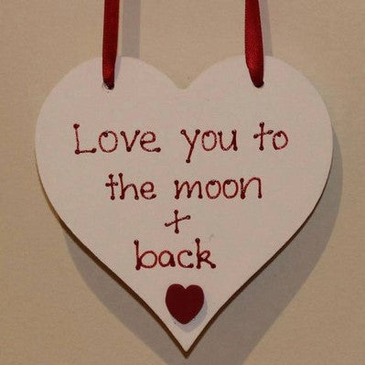 Love You to the Moon and Back Heart