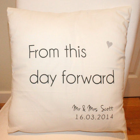 From this day forward wedding cushion