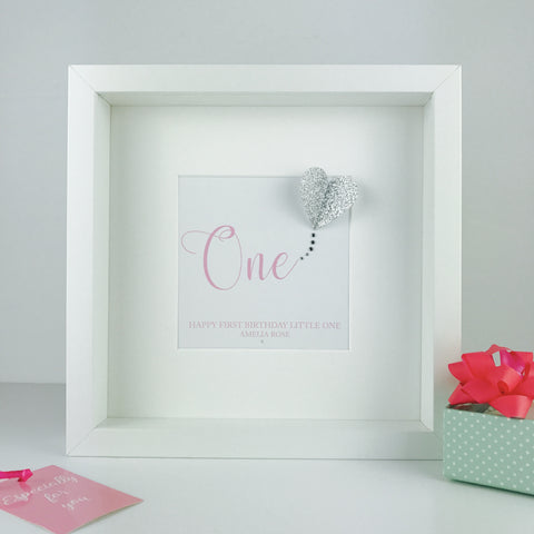 First birthday keepsake | personalised box frame gift | baby's first birthday gift