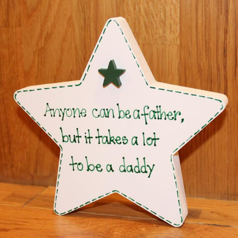 Father's Day Freestanding Star