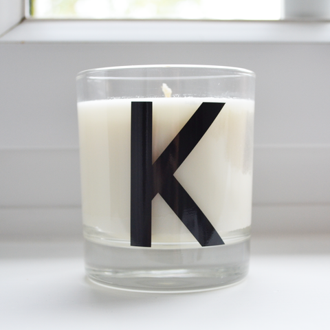 Personalised birthday candle | initial monogram candle | scented candle for the home | natural soy eco wax | new home, wedding, anniversary