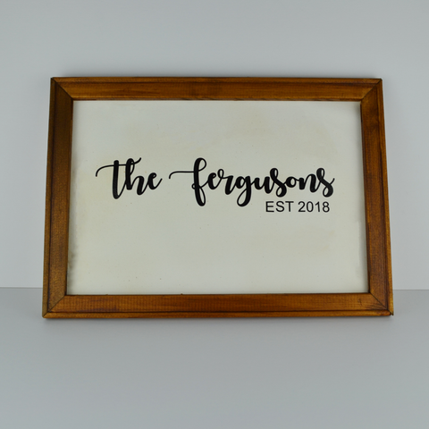 Personalised rustic sign | wood and canvas | any saying | A3 size