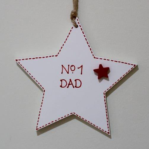 No 1 Dad Hanging Star