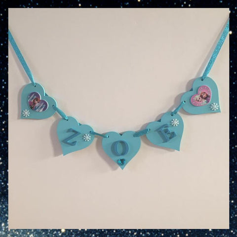 Frozen Wooden Heart Bunting