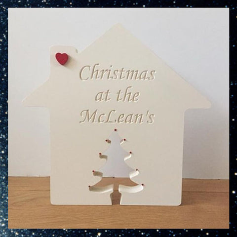 Christmas At The....Freestanding Personalised House