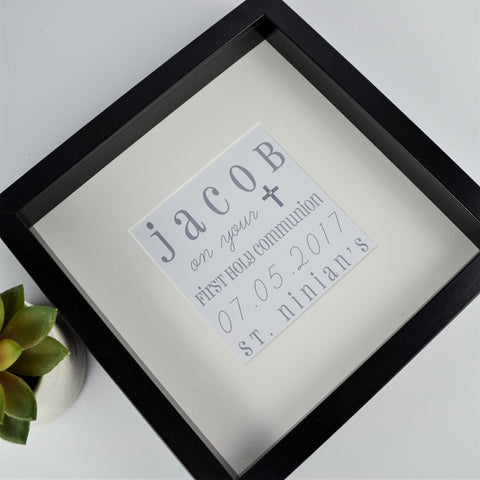 First holy communion personalised wordart frame | 1st communion gift for boy