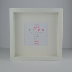 First holy communion personalised wordart frame | Wordart cross 1st communion gift for girl