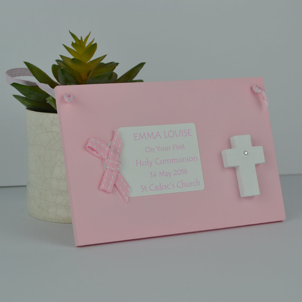 Christening and First Holy Communion Plaque