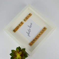 First holy communion personalised scrabble photo frame | 1st communion gift for boy or girl
