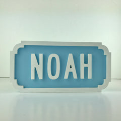 Wooden Personalised Street Sign | Boy name plaque