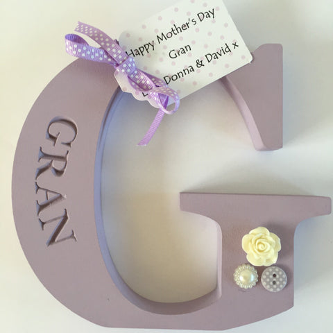 Free standing Engraved Gran Initial