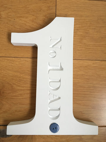 Freestanding Engraved Number