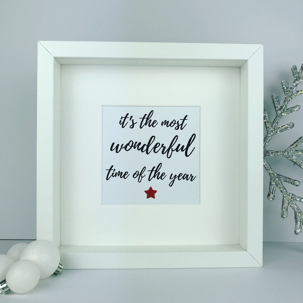 'It's the most wonderful time of the year' framed Christmas print