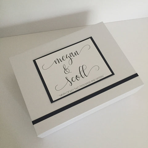 Wedding Keepsake Box | Modern Calligraphy