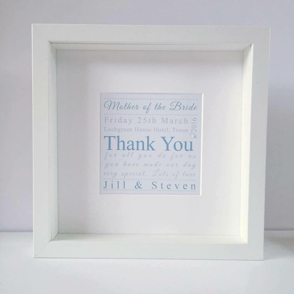 Wedding Party Thank you Personalised Gift | Framed print