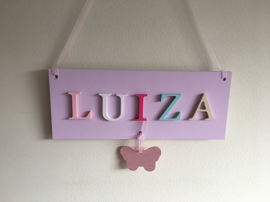 Girls Hanging Plaque