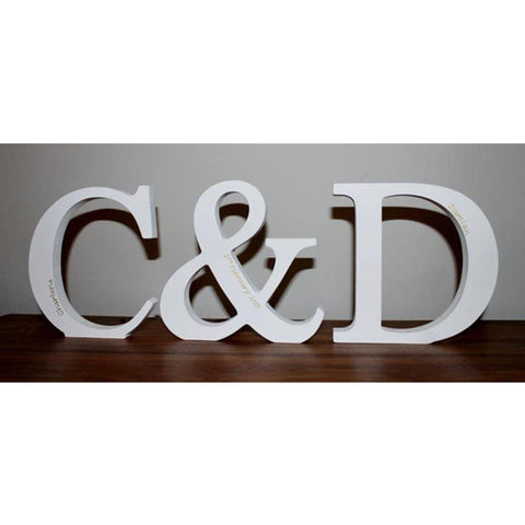 Free Standing Initials