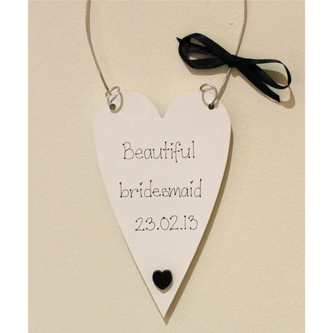 Beautiful Bridesmaid Heart