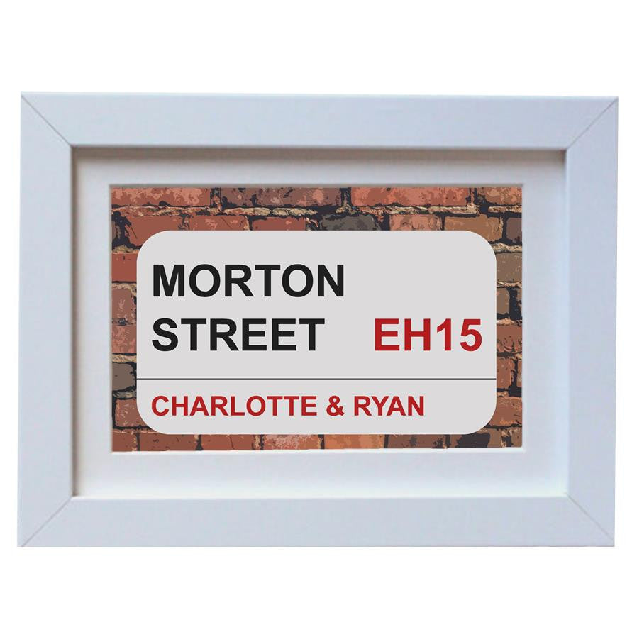 New home street sign print