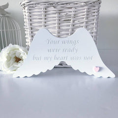 Free Standing Engraved Wings