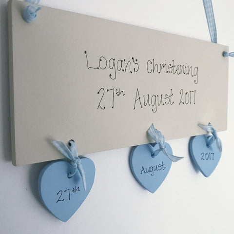 Baby Boy Hanging Plaque