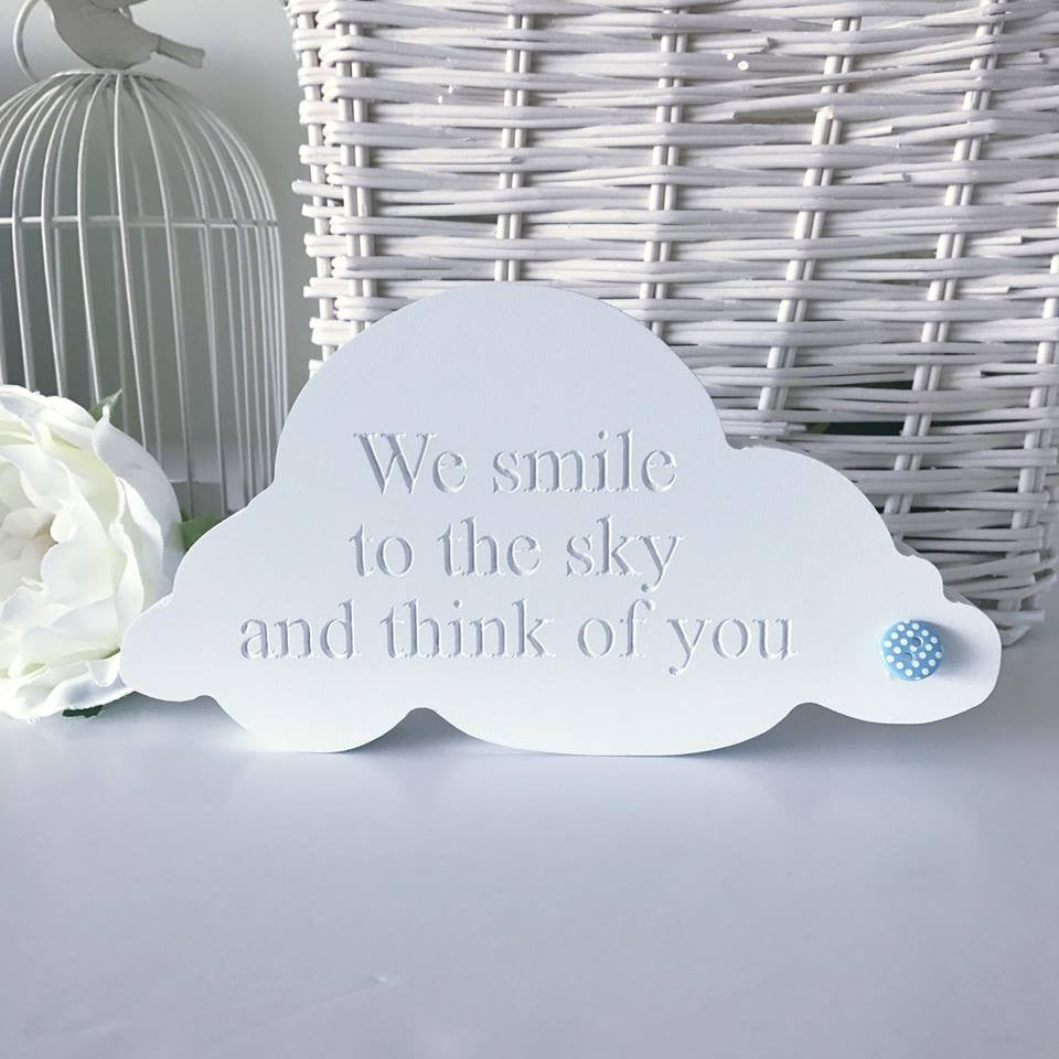 Free Standing Engraved Cloud
