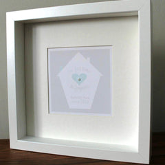 Our first home personalised framed print