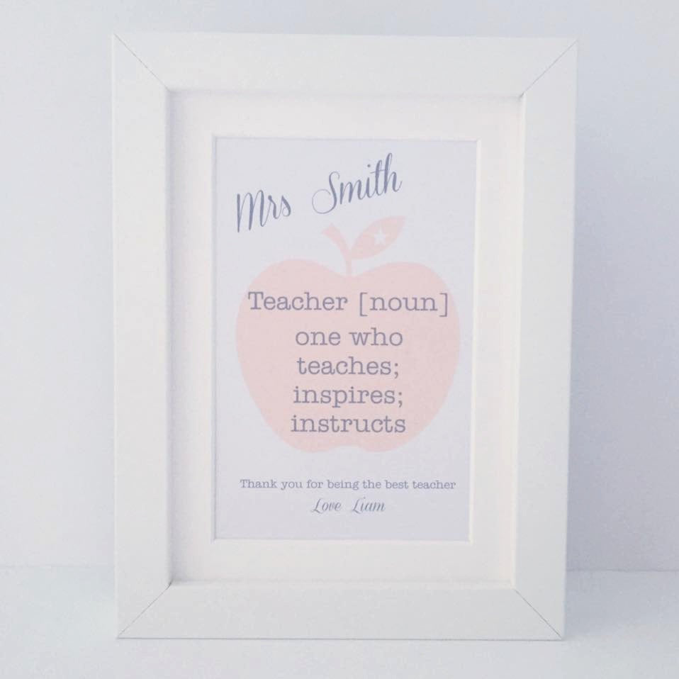 Teacher definition frame | mini personalised frame | teacher gift