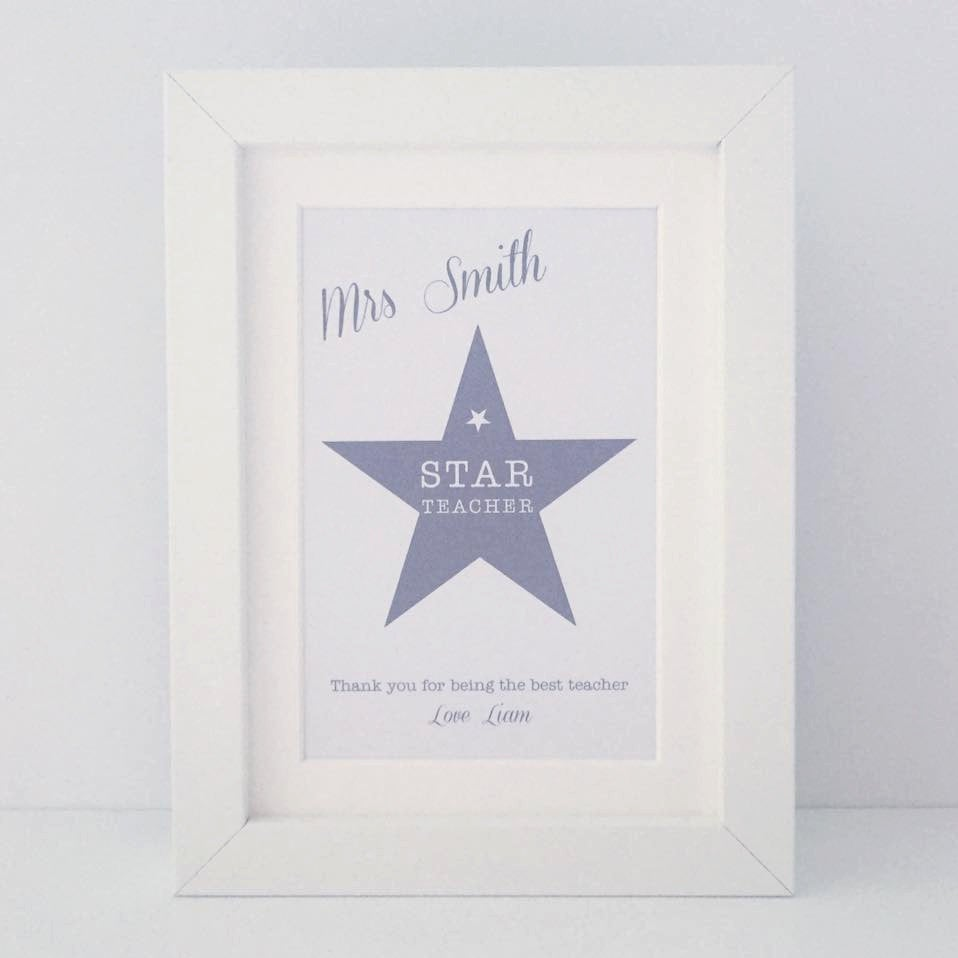 Star Teacher | mini personalised frame | teacher gift