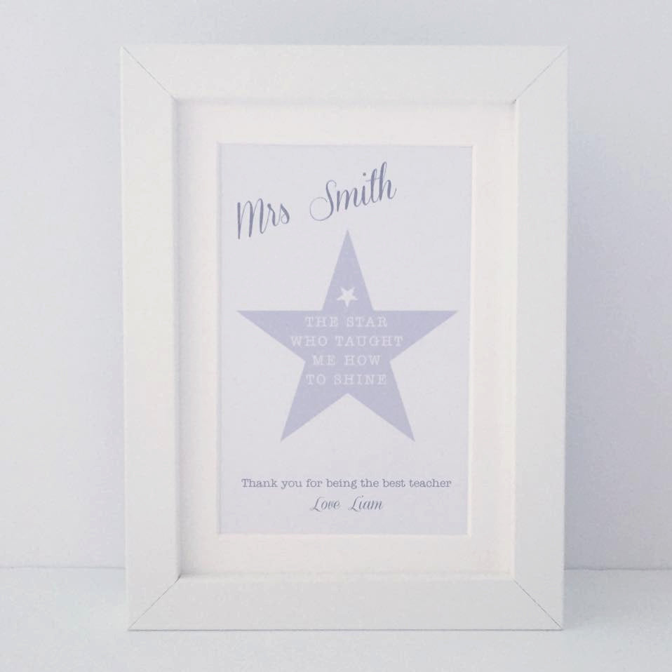 The star who taught me how to shine | mini personalised frame | teacher gift