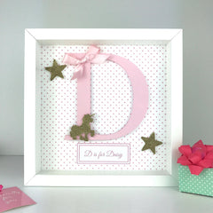 Personalised Initial Frame | Christening, First Communion, New Baby personalised gift, personalised birthday gift/nursery decor