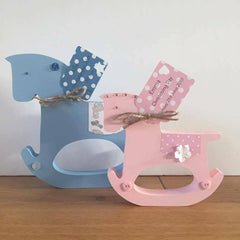 Wooden Rocking Horse/New baby gift/baby nursery/personalised christening gift