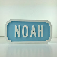 Personalised Wooden Street Sign/Nursery decor/New baby gift/christening gift/birthday gift