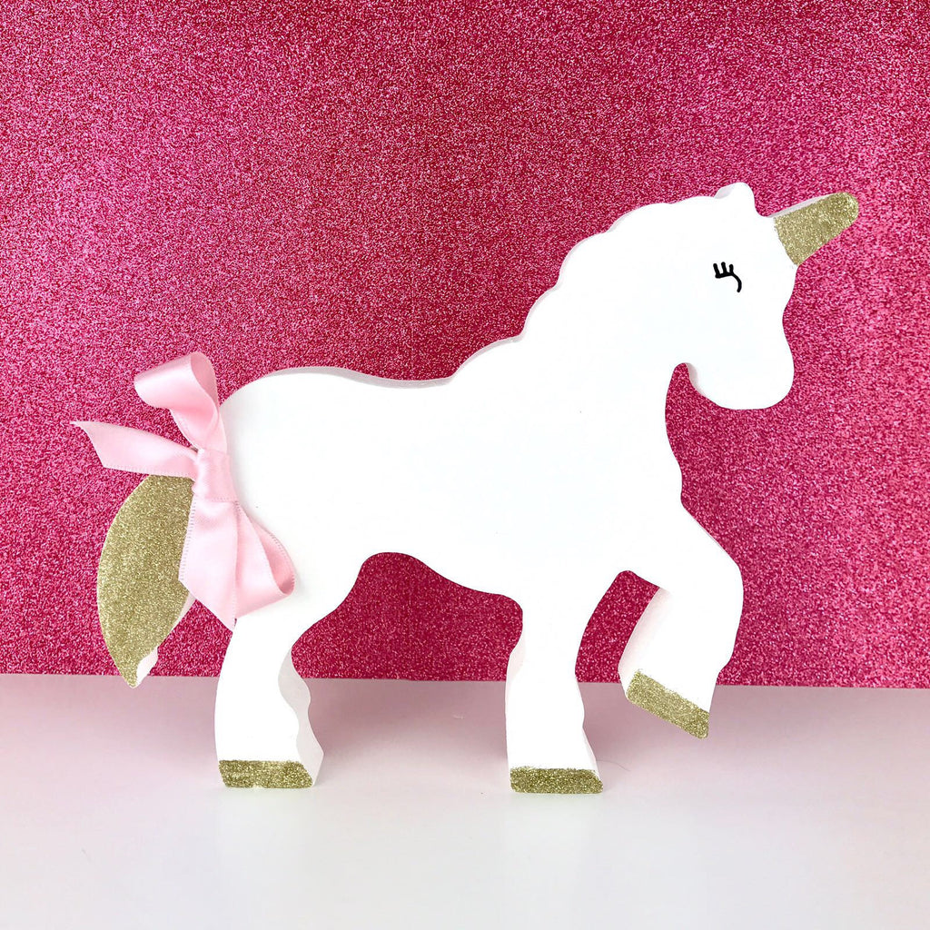 Free Standing Wooden Unicorn/nursery decor/personalised birthday gift