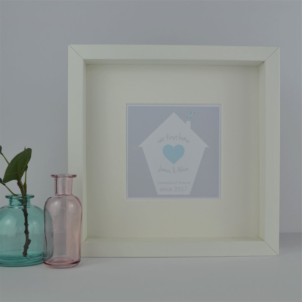 Framed and Personalised First Home / New Home Gift | Personalised Housewarming Present
