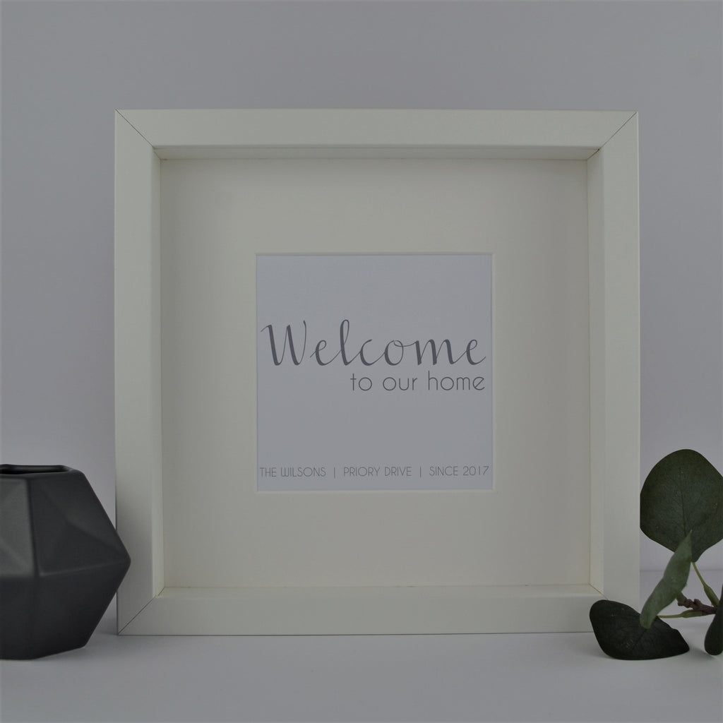 Welcome to our home personalised frame | New Home Gift | Personalised Housewarming Present