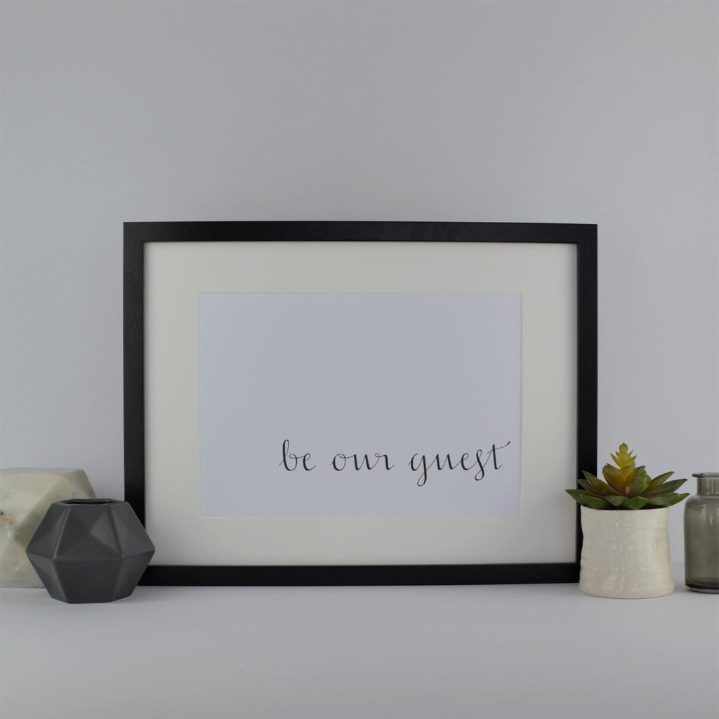 Be our guest print | Print Only | new home gift | gift for couple | gift for him