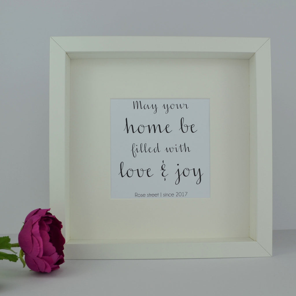 May your house be filled with love & joy personalised frame | Personalised Housewarming Present | New Home Gift