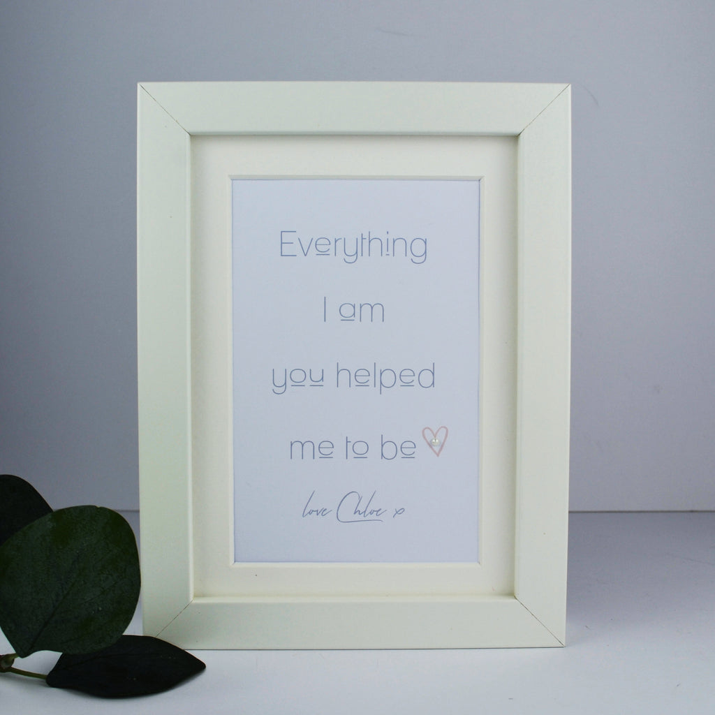 Personalised Mother's Day Gift | Mini personalised Mother's Day frame | Gran Nana custom present