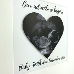 Baby scan photo keepsake | personalised box frame | pregnancy announcement