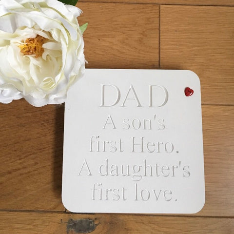 Freestanding Father's Day Plaque