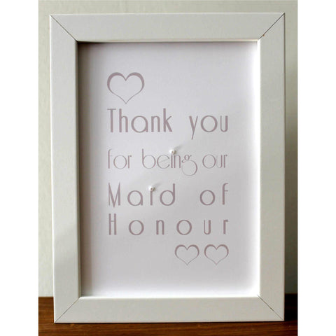 Maid of honour frame