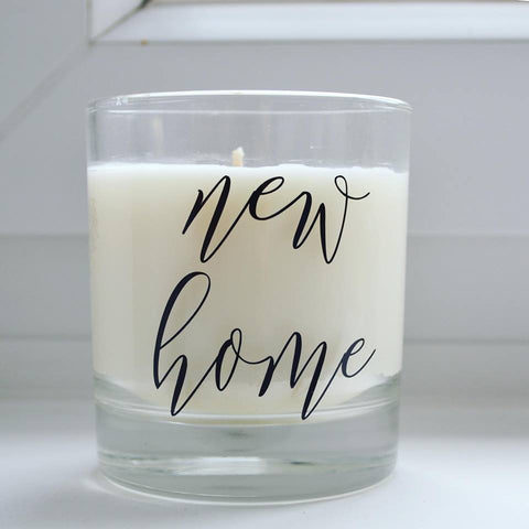 New home personalised candle | housewarming gift | scented candle for moving in present | natural soy eco wax
